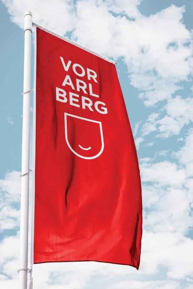 Marke Vorarlberg Finalist Flagge