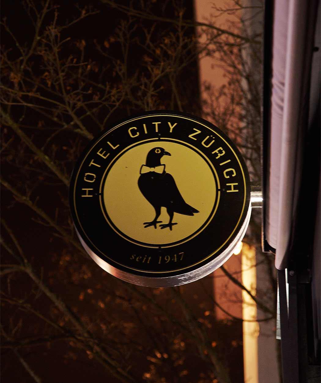 Signage Hotel City Zürich