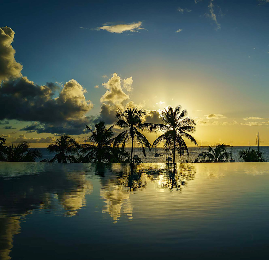 Sonnenuntergang auf Grenada