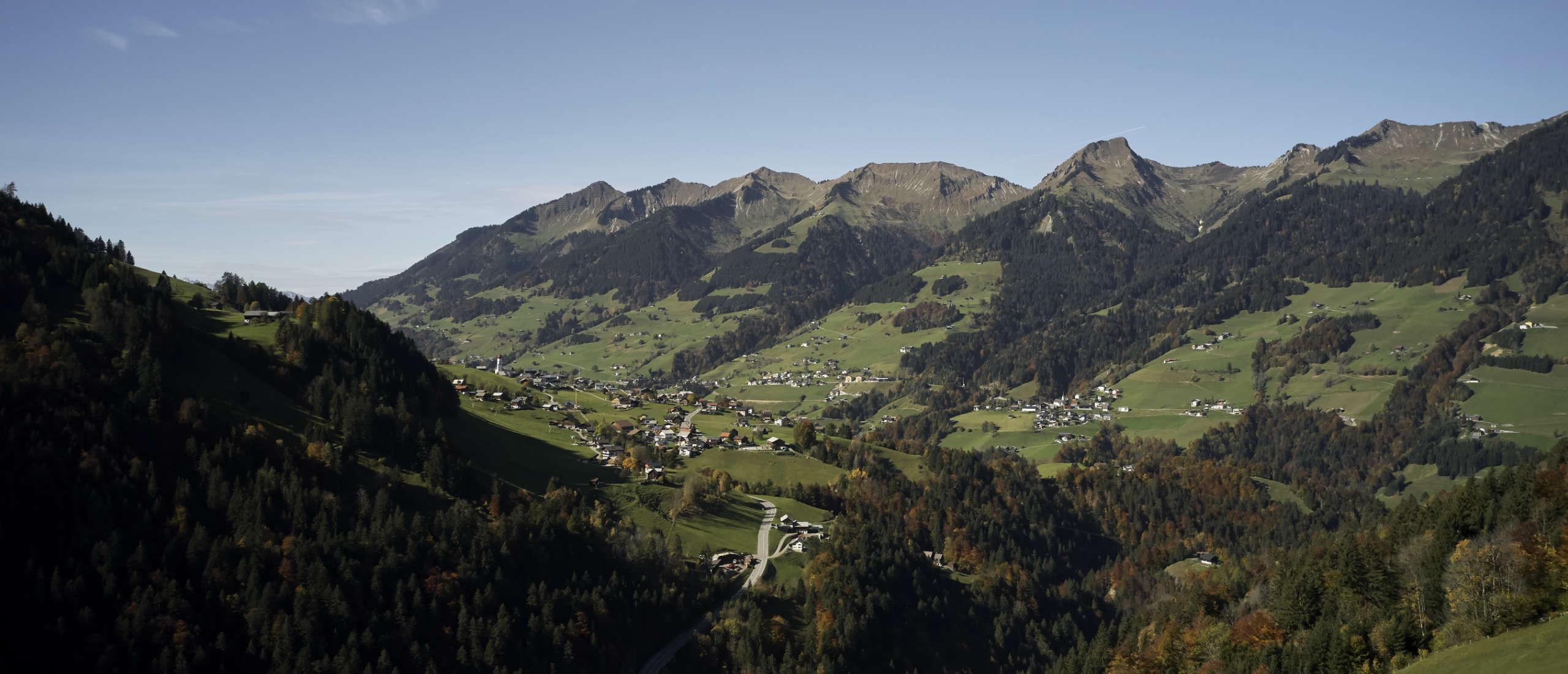 Walser valley Vorarlberg in fall