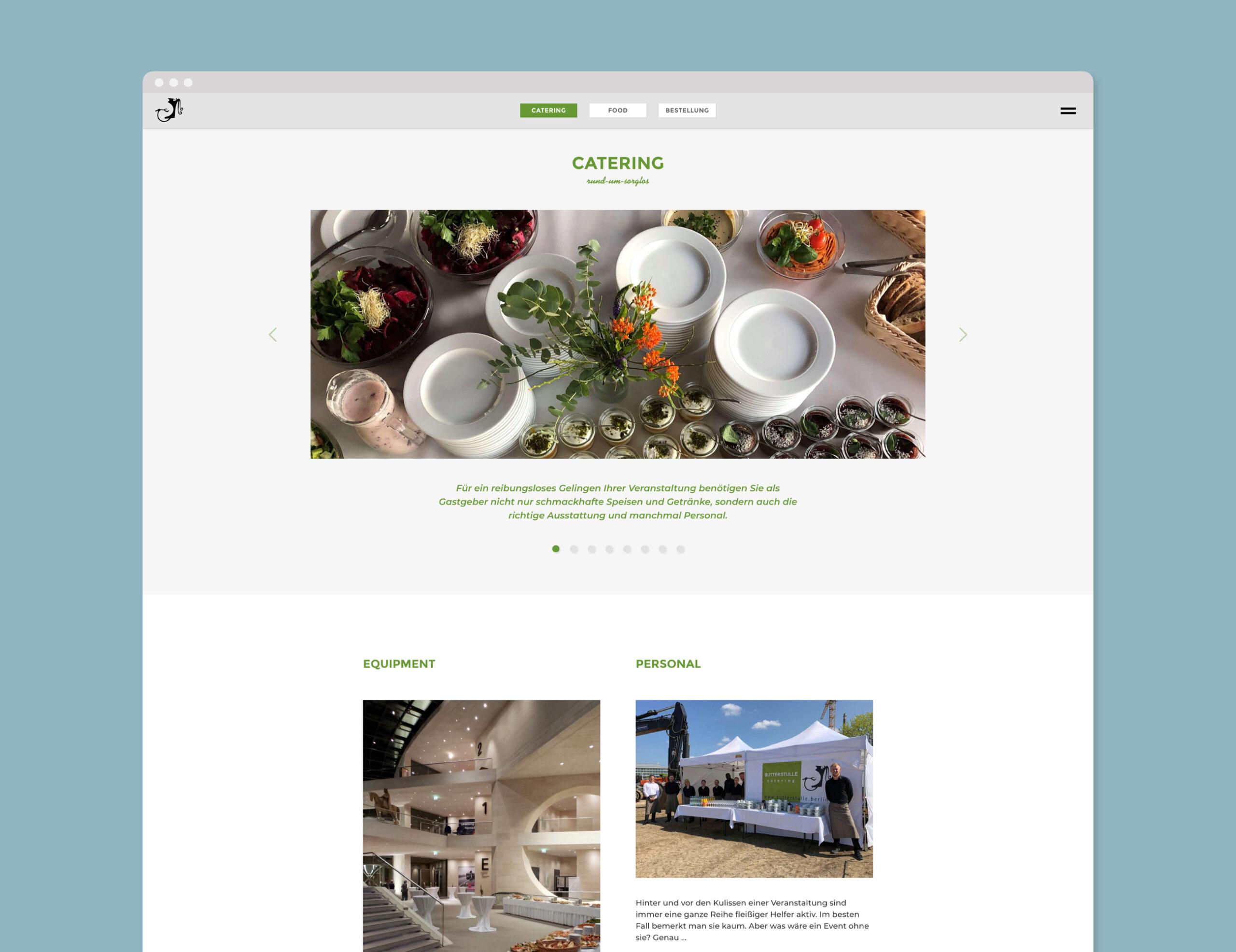 Butterstulle website home screen