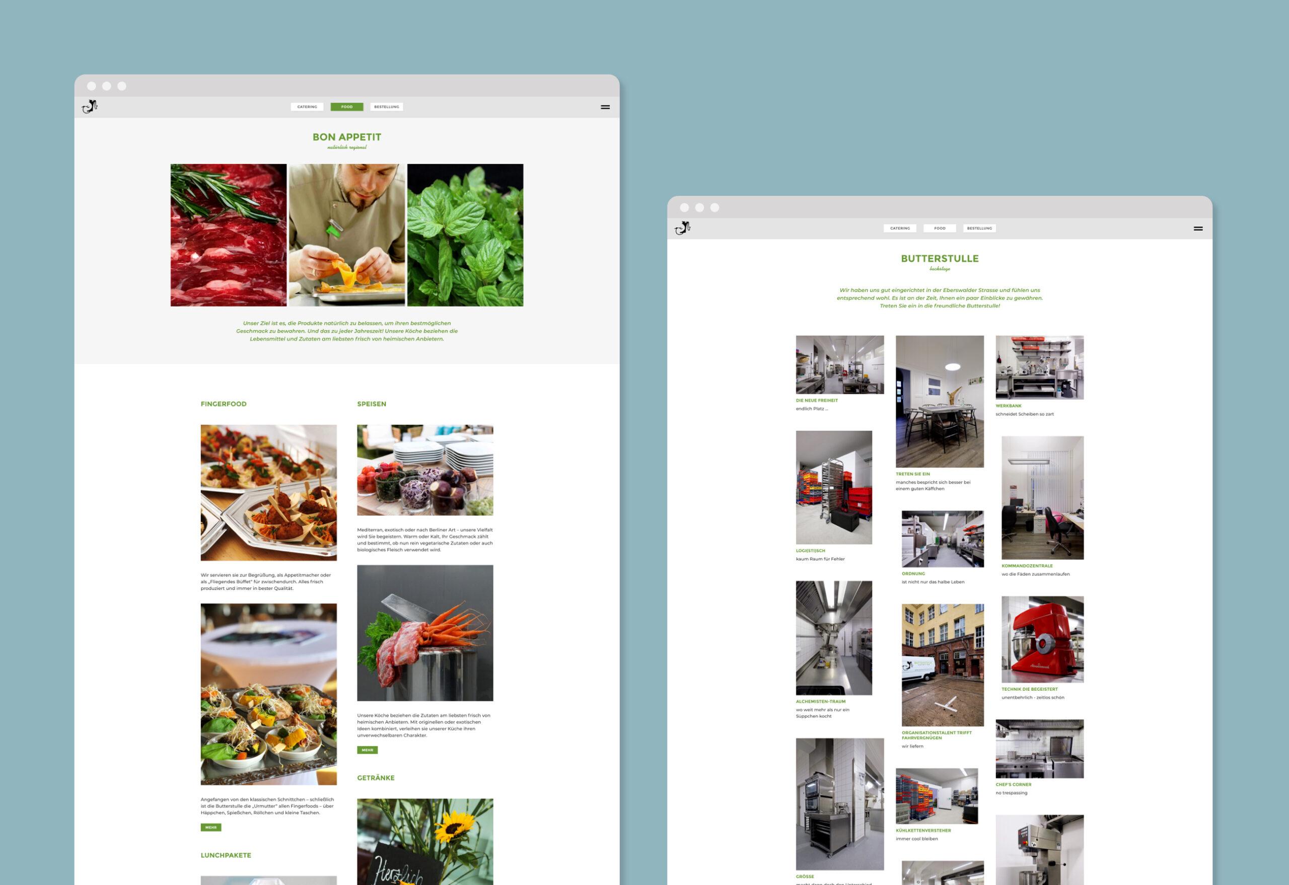 Buttestulle website screenshots