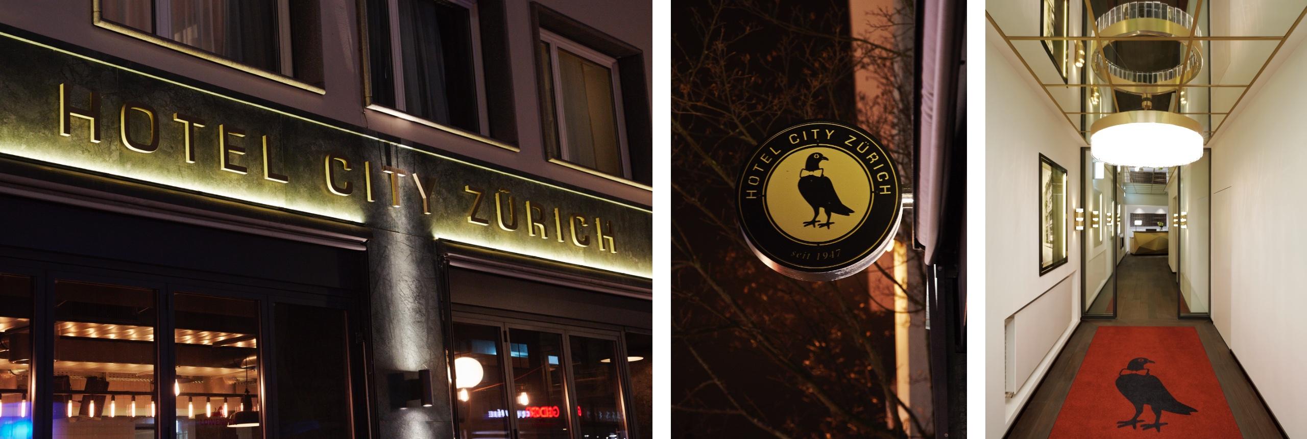 Hotel City Zürich Lobby, Logo, Fassade