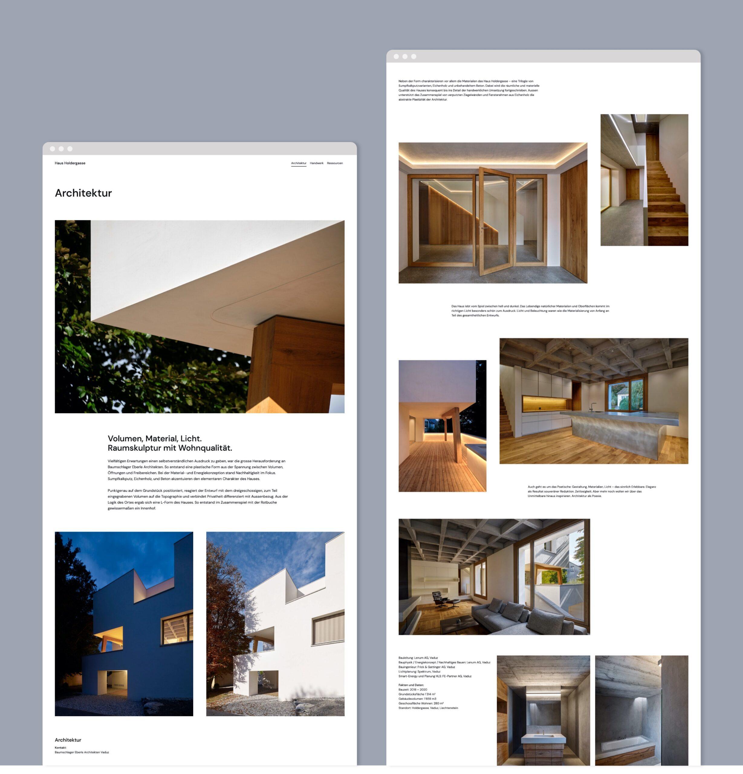 Website Haus Holdergasse Portfolio 2