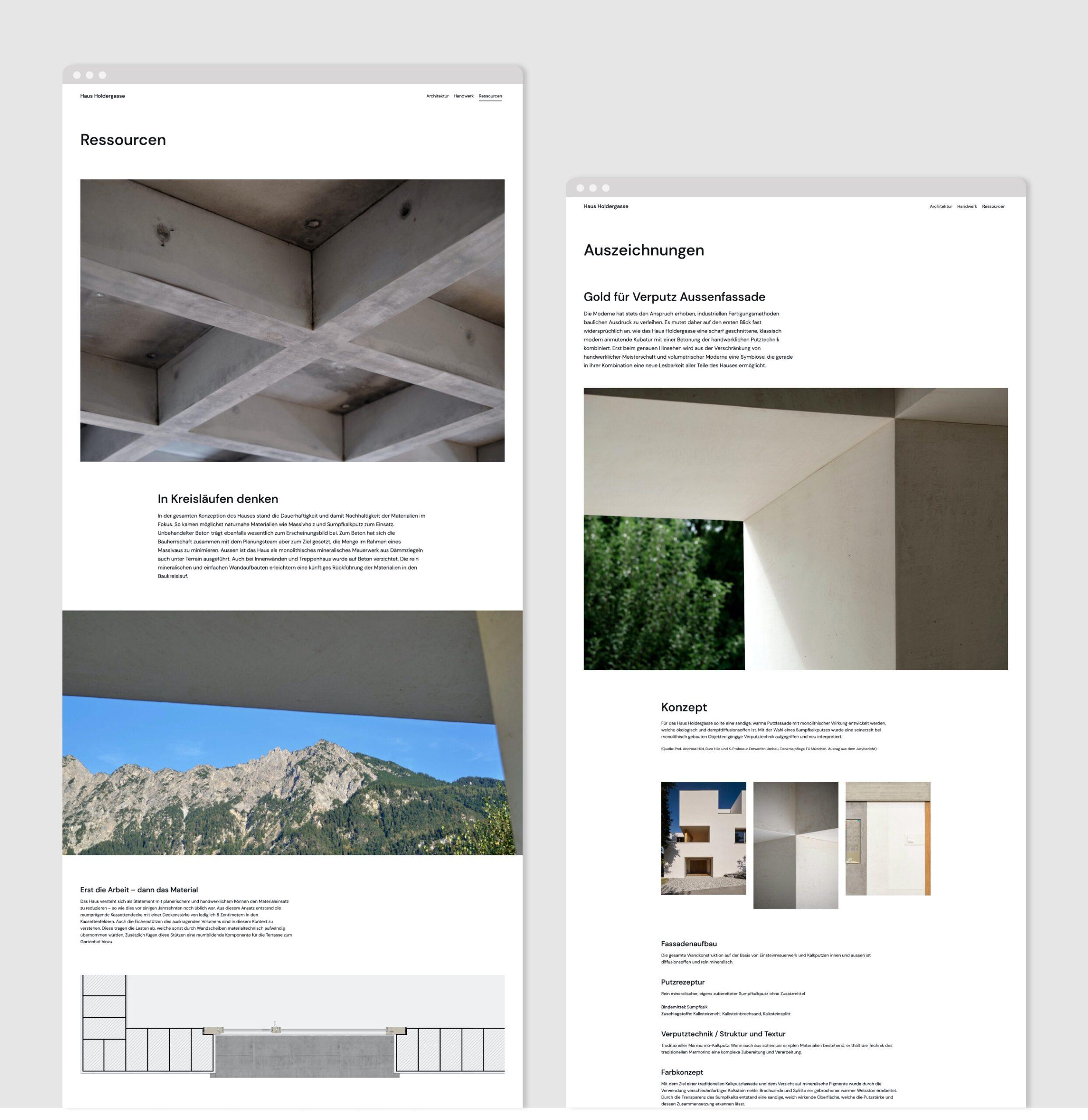 Website Haus Holdergasse Portfolio 4
